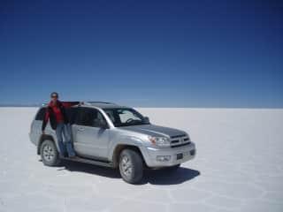 We like nature, (Crossing Salar de Uyuni in Bolivia)