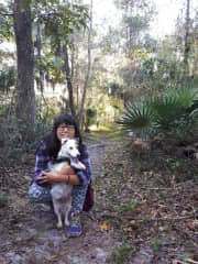 Running in the woods with Peanut