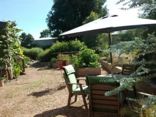 Vege garden and patio