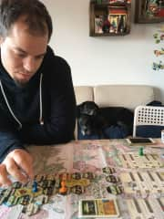 We like to play boardgames, while the digs take a break ;-)