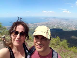 hiking at the Vesuvio, Naples summer 2018