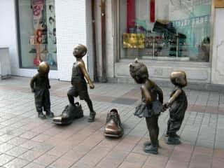 Street sculptures Beijing, China