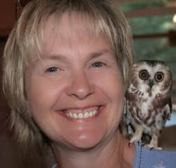 Worked with this owl at an animal refuge.This little guy had a wing issue. Colleen helped in nursing him back to health.