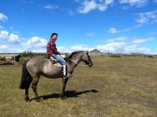 David on horseback in Patagonia