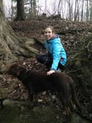 Me with my furry friend Mika