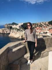 Visiting beautiful Dubrovnik in Croatia.