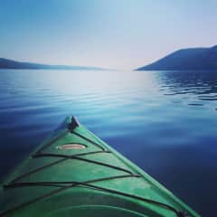Early morning kayaking in the Finger Lakes of NY