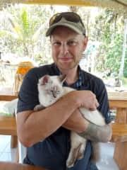 A house cat, in Bali