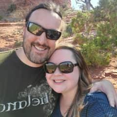 Michael and Cassandra in Sedona, Arizona, summer 2020
