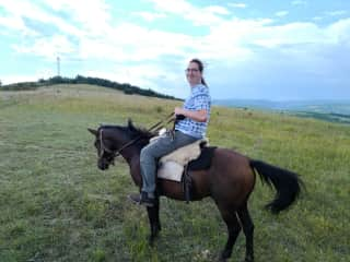 Daniel on horseback
