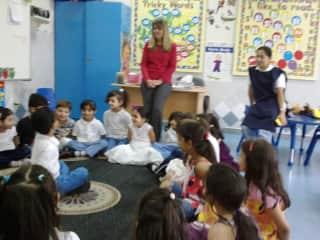 Teaching in Abu Dhabi (me in red)