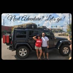 Claudia & Grant ready to go on a new adventure.