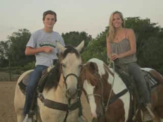 Horse back riding with my brother
