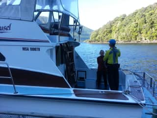 A family boat trip in Fjordland - South Island - New Zealand