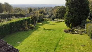 Back garden with far reaching views