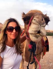 Me  with my camel, Jack Bauer, in Dades Gorge, Morocco.