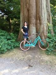 Biking in Stanley Park. 2017.
