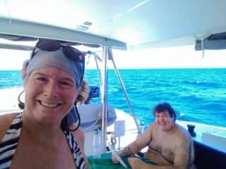 Our family has taken up coastal cruising on catamarans. We've sailed in the Seychelles, British and Spanish Virgin Islands, Thailand, Greece, Martinique, and St. Martin.