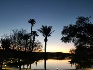 Amazing sunrises and sunsets.