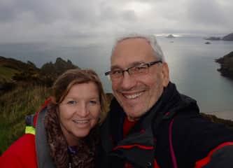 Niamh and Gary hillwalking on Sark, Channel Islands U.K.