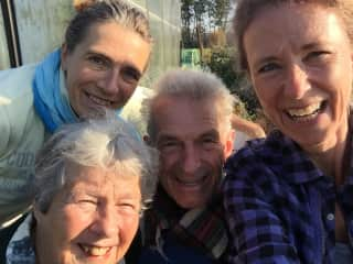 Petra, her sister, dad and his second wife, late summer 2018