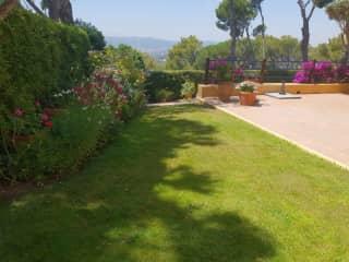 Side garden - views to the Gavarres