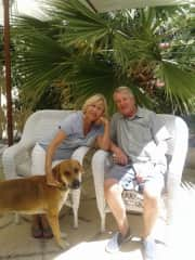 Rainer, Margret and our dog Liam