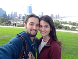 Philip and Vanessa, who just arrived in Australia and are super happy