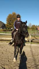 With Freya at the farm in Doornenburg I looked after for many weeks
