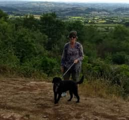 Christine and Coco at Harptree