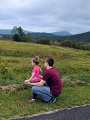 Chris and Serenity admiring the Blue Ridge Mountains