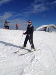Skiing at our local resort