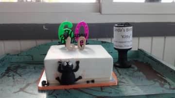 60th Birthday Cat Cake!