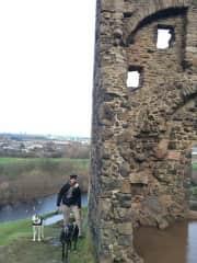 Stephen with Ronan and Jessie in Edinburgh