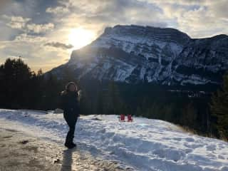 I love to travel to new places. This is me in Banff, Canada