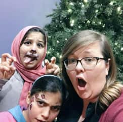 """I was a volunteer with a tutoring program for children from refugee & immigrant families. These were my """"students"""" for 2 years and quickly became my friends."""