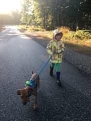 Opal walking Ginger 2019