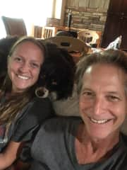 Elizabeth, Jeff and Rocco (dog)