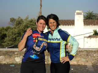 Me and my sister riding our bikes across Portugal