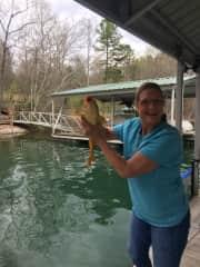 Catfish, Bass, Bluegills right off our dock!