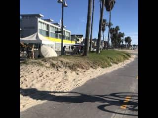 Biking near Santa Monica, CA