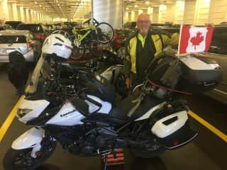 On the road, a 14,800 km (9,000 mile) solo cross country ride in 2017