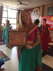 I am a qualified yoga teacher, I completed my certification in Rishikesh, India.