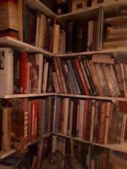 Cookery books, and books in general. Love reading.