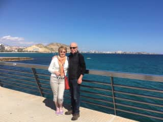 John and Dee in Alicante