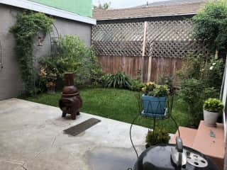 Backyard as a courtyard with sitting area
