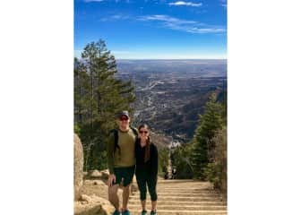 Manitou Incline during our Colorado Springs housesit