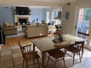 Living Room and Eat in Kitchen