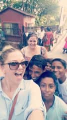 Hanging out with locals in India