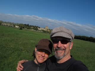Michelle and Rob on a bike tour in France